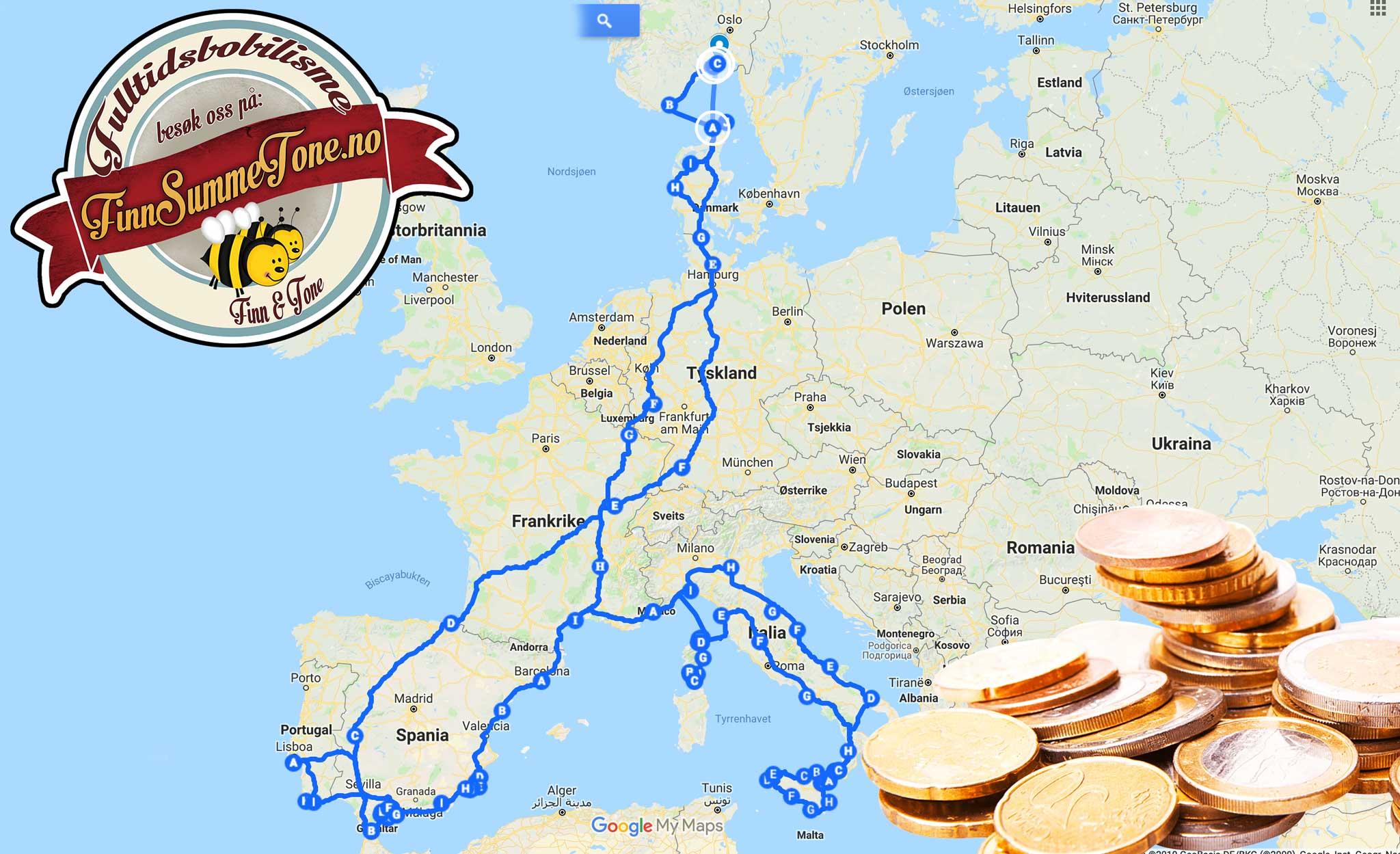 6 Maneder 16 000 Km I Europa Med Bobil Kostnader Finnsummetone