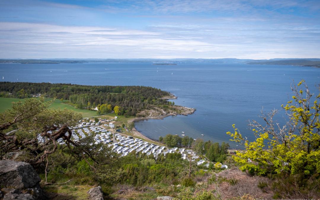 Med bybobil til Nes Camping på Jeløya