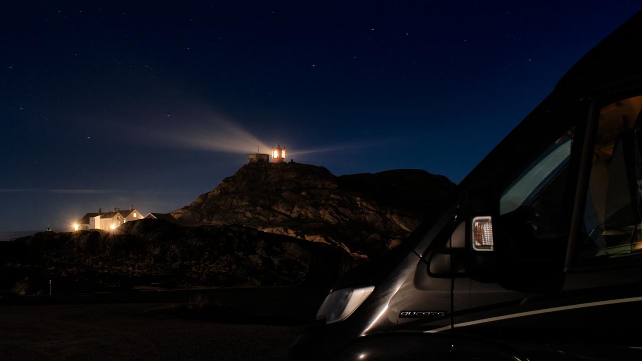 Nattbilde av Lindesnes fyr